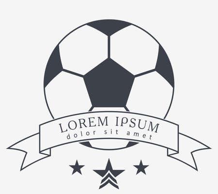 Football Vector Icon. Emblem Soccer Ball. Soccer Club . 矢量图像