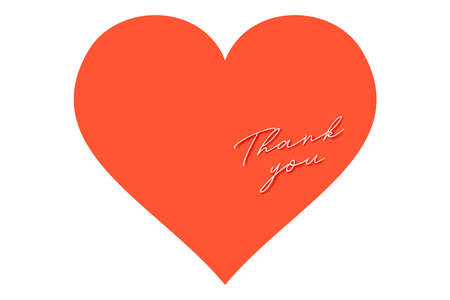 Thank You Card. Thanks Sticker. Vector Isolated Illustration