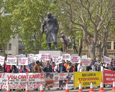 London Westminster, England May fifth 2009, Protests against the treatment of Tamils in Sri Lanka Stock Photo - 9433822