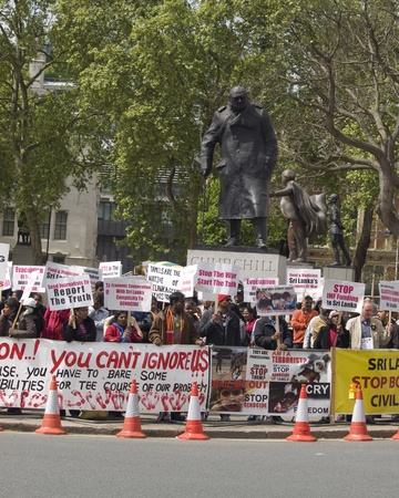 London Westminster, England May fifth 2009, Protests against the treatment of Tamils in Sri Lanka Stock Photo - 9433821