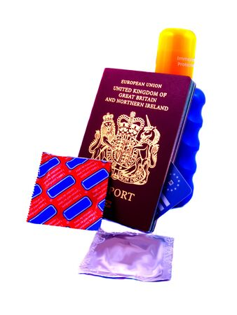 Essential items for a young person traveling on a summer holiday