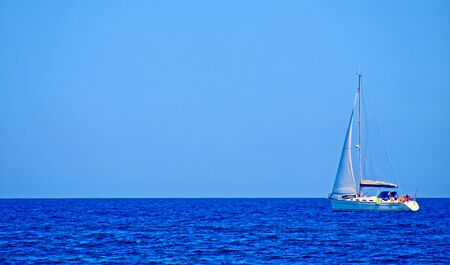 Yacht on the sea in the summer