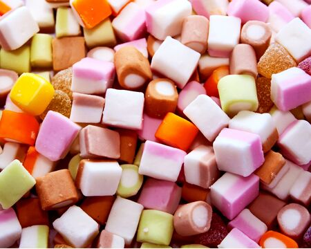 Dolly mixtures in a pile