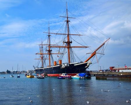portsmouth: HMS Warrior, Portsmouth, UK, 280711 Editorial