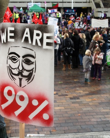 Portsmouth, UK, 30 November, 2011 - National day of action by public sector workers against pension changes.  Editorial