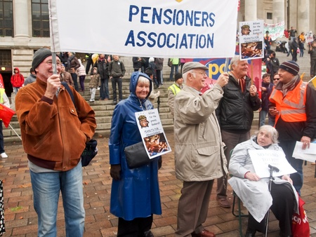 oap: Portsmouth, UK, 30 November, 2011 - National day of action by public sector workers against pension changes