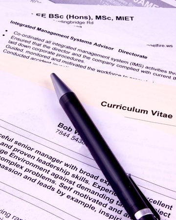 A selection of CVs for shortlisting for a job