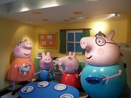 Peppa Pig World, Paultons Park, England, 2011, The inside of Peppa pigs house