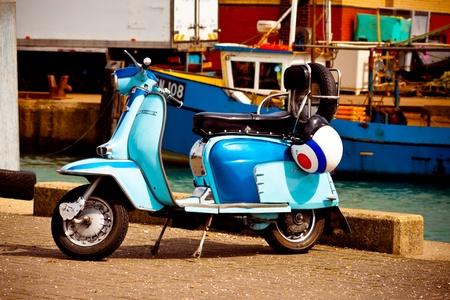 Lambretta scooter, Camber docks, portsmouth, April 2012