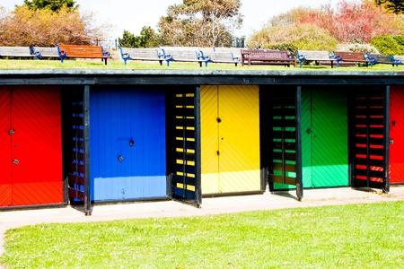 southsea: Beach huts Stock Photo