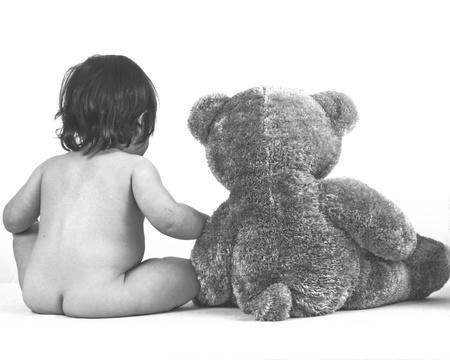 bare Girl and bear