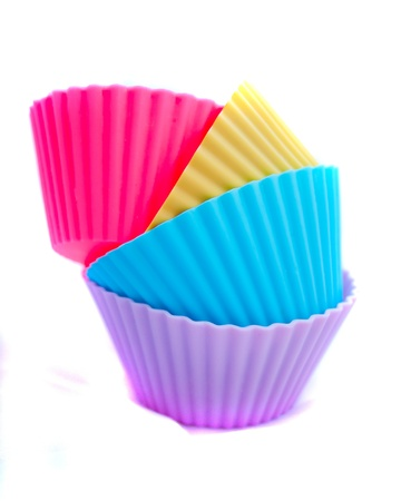 moulded: cupcake cases on a white background