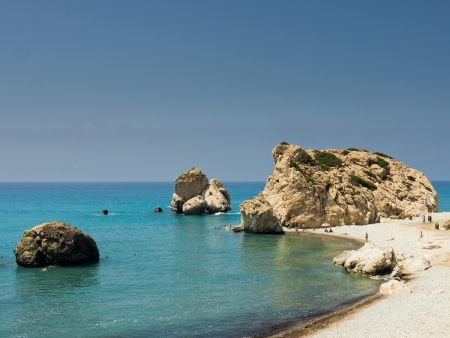 afrodite: Aphrodite s Rock, Paphos, Cipro,