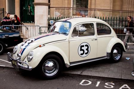The Volkswagen Beetle car Herbie, parked in London June 2012