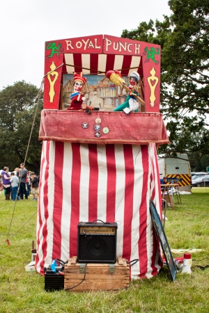 Traditional Punch and Judy show, Burley village show, 04 August 2012