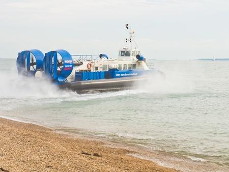 hovercraft: Hovertravel Hovercraft in the Solent