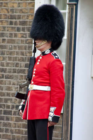 A guard outside Clarence house in London, United Kingdom, June 2012