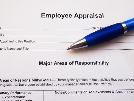 Employee appraisal with pen