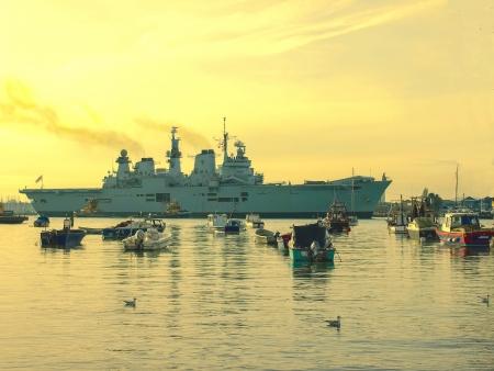 illustrious: HMS Illustrious entering Portsmouth Harbour, November 2012 Editorial