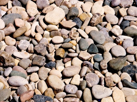 Background of beach pebbles