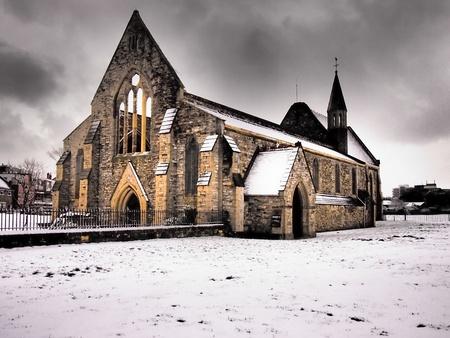 Royal Garrison church Portsmouth in the snow