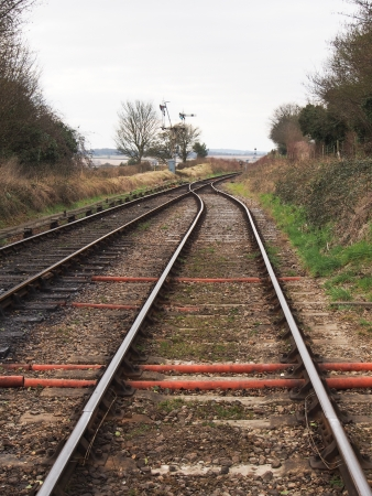 railway points: View along a railway line