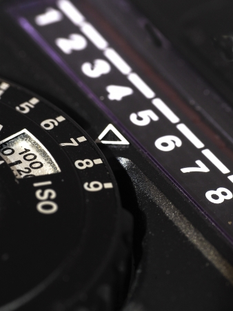 Close up of a light meter Stock Photo