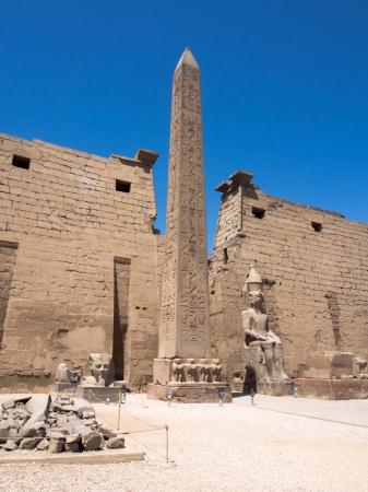 louxor: Ob�lisque au temple de Louxor, en Egypte Banque d'images
