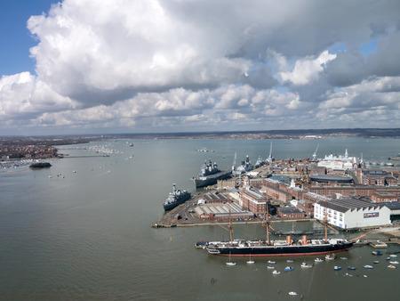 Portsmouth harbour and Naval Dockyard