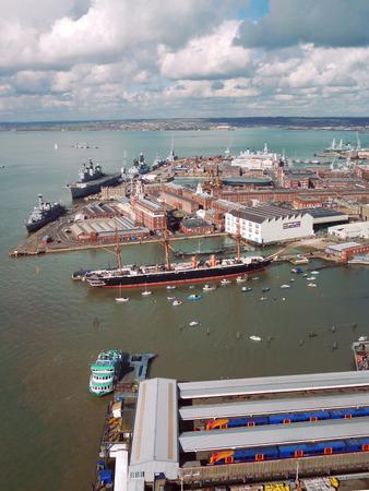 dockyard: Portsmouth harbour and Naval Dockyard