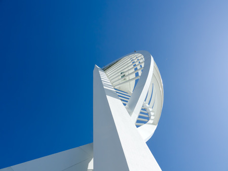 Looking up at spinnaker tower