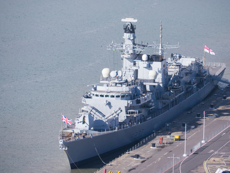 Type 23 Duke class frigate HMS westminster in Portsmouth Naval Dockyard