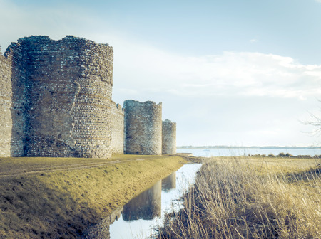 Portchester Castle, England, after an exceptionaly high tide Editorial