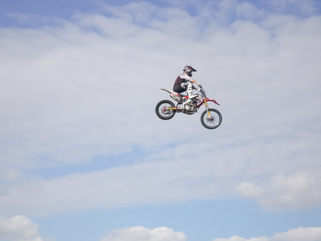 FMX bike jumping high