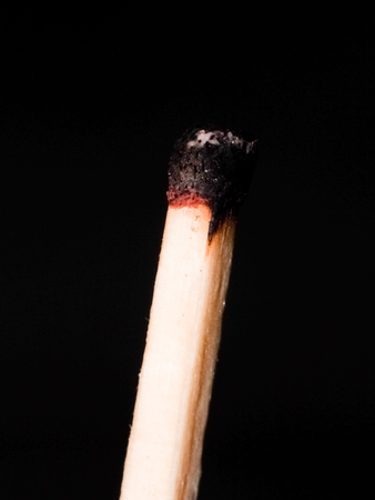 burned out: A burnt out matchstick
