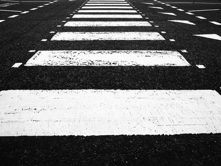 A Zebra crossing on a road