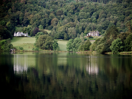 Reflections on Grasmere, Cumbria, England