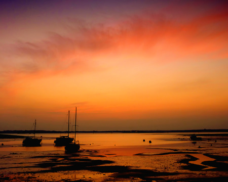 sunset over Portsmouth harbour