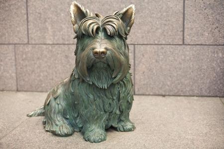 Dog  Scottish terrier Fala  Franklin Delano Roosevelt National Memorial, Washington D C  , USA Reklamní fotografie