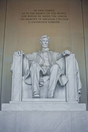 Front view of Lincoln Memorial in Washington DC, USA photo