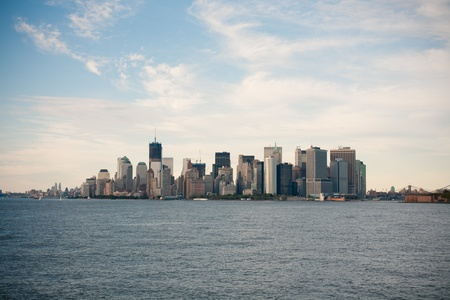The Lower Manhattan  View from Staten island ferry photo