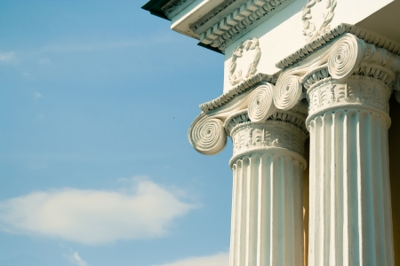 Ionic greek column