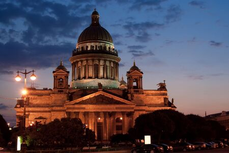 isaac s: St  Isaac s Cathedral at night