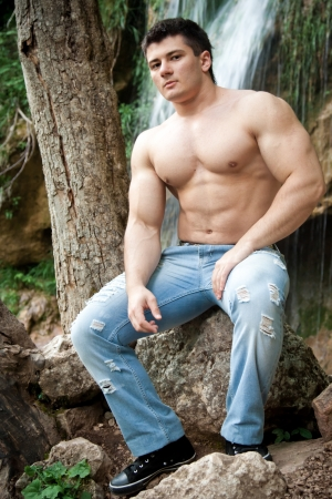 Attractive muscular man photo