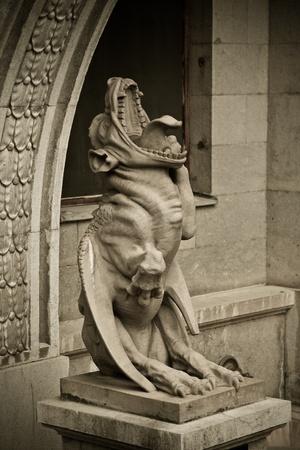 Shot of a gargoyle - mythology creature