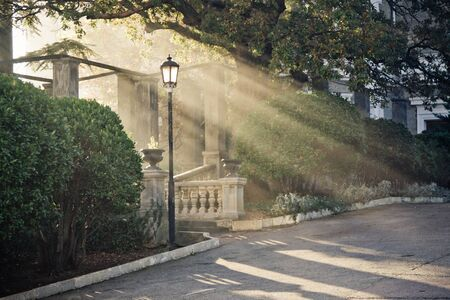 Shot of a beauty sunbeam from the arch