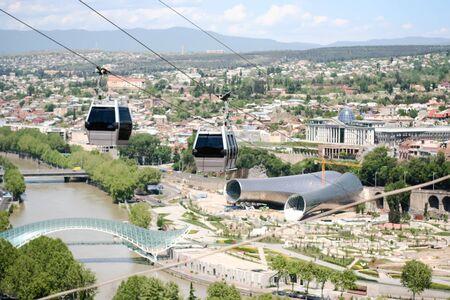 tbilisi: Vista Tbilisi, Georgia Archivio Fotografico