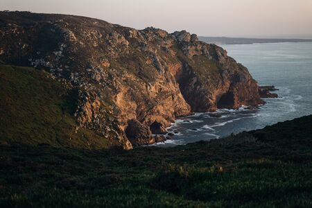 The cliffs of Cabo da Roca at sunset. The western point of Europe. Sintra, Portugal. Reklamní fotografie