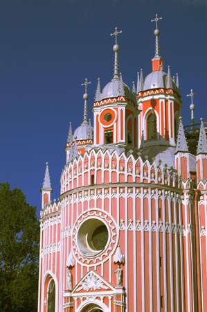 The Chesmen Church in Saint Petersburg. English-style Gothic.