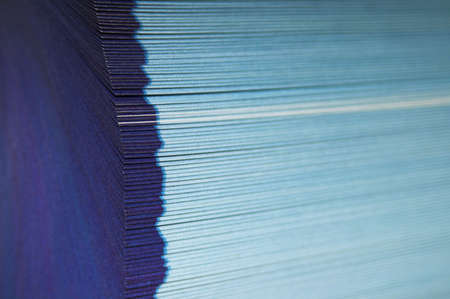fillup: Fanned pages - The cutting face of a phone directory with fanned pages.